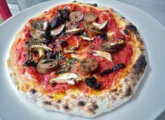 """BiereBeer's Clams Casino Pie"" with Mozzarella and Parmesan cheeses, garlic, EVOO, clams and bacon. Cheesy Pizza Recipe, Pizza Recipes, Clams Casino, Flatbread Pizza, Deep Dish, Sicilian, Mozzarella, Parmesan, Vegetable Pizza"