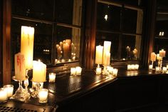 A Perfect Event - lots of candles casting a soft, spooky glow