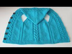 Kapşonlu Yelek Modeli Y Burgulu Yelek Anlatımı - YouTube Baby Sweater Patterns, Crochet Baby Hat Patterns, Baby Cardigan Knitting Pattern, Knit Baby Sweaters, Crochet Baby Hats, Knitting Videos, Knitting Stitches, Knitting For Kids, Free Knitting