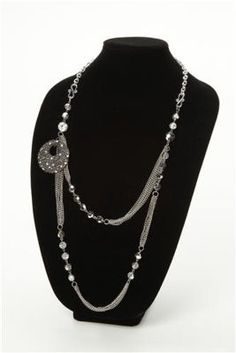 #Glitz Collection Silver Chains #Necklace
