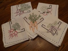 embroidery || Embroidered Napkins