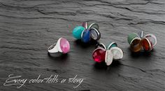 LEMILLE. Collezione Glam in a click. Anello intercambiabile in Argento 925  -  Glam in a click Collection. Interchangeable ring in Sterling Silver #interchangeable #gems #color