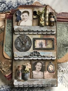 Hello there! I hope you are doing well and are having a great day! I'm back with another project that I created for the Stampers Anonymous booth at Creativation. This project features the ne… Dog Clip, Music Paper, Ranger Ink, Paper Tags, Assemblage Art, Vintage Tags, Shabby, Tag Art, Tim Holtz