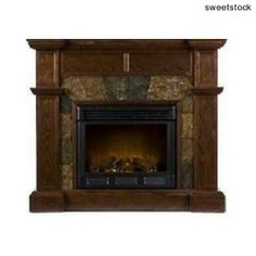 Fireplaces, Electric Fireplace Heater by SEI Cartwright, LED Lights