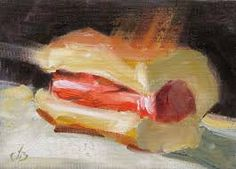 Hot dog art by Tom Brown :)