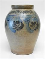 This one-of-a-kind stoneware crock is a distinct piece from our special collection of Red Stoneware.