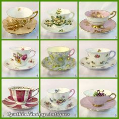 Perfect Tea Party Time!  #Shelley #TeaCups  #Saucers #Summer
