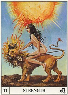 XI Strength - Ansata Tarot by Paul Struck.
