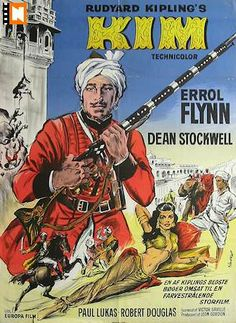 1950s Movie Posters | Kim 1950 Movie poster Errol Flynn Dean Stockwell