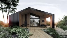 Our dream house // deco maison / architecture / home decor // Black And White House With Moments Of Kid-Friendly Quirky Decor Future House, Design Exterior, Modern Exterior, Casas Containers, Shed Homes, Forest House, Modern Barn, House In The Woods, Black House