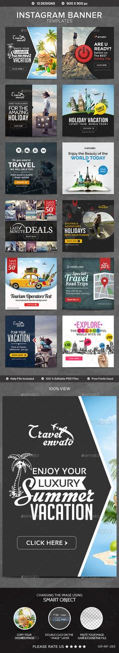 Instagram Banner Templates - 12 Designs on Behance