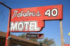 "Route 66 - Fabulous 40 Motel, Tucumcari, New Mexico. Road trip! ""The Fine Art Photography of Frank Romeo."""