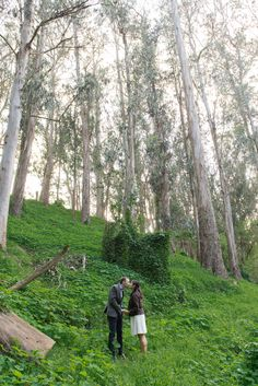 Stern Grove/Bernal Heights, San Francisco engagement session // www.vivianchen.com