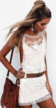 #summer #musthave #outfits | White Festival Little Dress