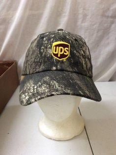 aaa5ef12537c0 trucker hat baseball cap Vintage Hook   Loop CAMO CAMOUFLAGE UPS HAT