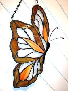 large butterfly Stained Glass Ornaments, Making Stained Glass, Stained Glass Suncatchers, Stained Glass Flowers, Stained Glass Designs, Stained Glass Projects, Stained Glass Patterns, Stained Glass Art, Stained Glass Windows