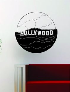 Hollywood Sign Decal Wall Vinyl Art Decor Room Design Los Angeles LA City California