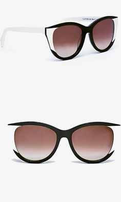 Sunglasses with a crisp black and white palette that's stunning on everyone