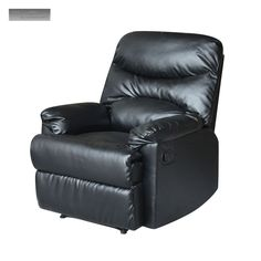 new black leather recliner lazy boy reclining chair furniture living room - Lazy Boy Lift Chairs