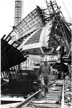 The construction of Sydney Opera House in 1965.Photographer was a David Moore.A♥W