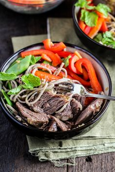 Vietnamese-Style Short Ribs with Soba Noodle Salad