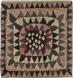 "Vintage ""Solrosen"" Rya rug designed by Marianne Richter in Marta Maas Fjetterstrom's workshop Textile Patterns, Textiles, Rya Rug, Shaggy Rug, Area Rug Sizes, Scandinavian Modern, Rug Hooking, Woven Rug, Fabric Art"