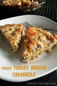 Cheesy Turkey Burger Casserole
