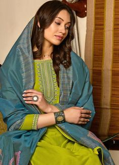 Buy Green And Blue Salwar Kameez In USA, UK, Canada, Australia, Newzeland online