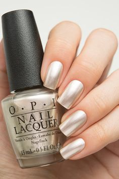 OPI has been known in the nail world for quite some time. They have so many different colors, and so we've gathered 40 best OPI nail polish colors just for you. Opi Nail Polish Colors, Opi Gel Polish, Opi Nails, Manicures, Silver Nail Polish, Nail Polishes, Stiletto Nails, Crome Nails, Metallic Nails