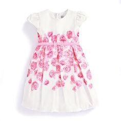 Girls' Pink Rose Party Dress | JoJo Maman Bebe