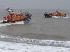 Lowestoft lifeboats fly by