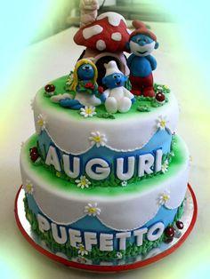 i puffi. #torta di simocakedesigner.it