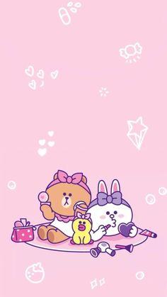 Line Cony, Lines Wallpaper, Kakao Friends, Ayato, Line Friends, Cute Cartoon Wallpapers, Cute Drawings, Aesthetic Wallpapers, Cute Art