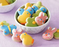 Mini Easter Sugar Cookies- I love using these to decorate cupcakes, etc.