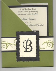Wedding Invite front by 53queenbee - Cards and Paper Crafts at Splitcoaststampers