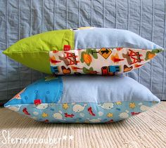 pillows for little boys #sewing #sternenzauber
