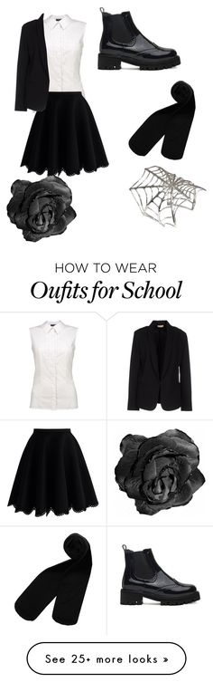 """School uniform"" by tiger123456789 on Polyvore featuring Monki, Chicwish, Bernard Delettrez and Maesta"