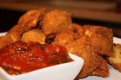 Simple Fried Raviloi with Spicy Marinara Dipping Sauce | Simple Quintessential Cuisine - The Site Of Food Blogger and Culinary Enthusiast Holly Henry