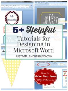 5 Helpful Tutorials for Designing in Microsoft Word | JustAGirlAndHerBlog.com