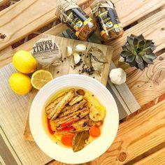 Gourmet Tinapa in Lemon ✔Smoked fish ✔Corn oil✔Carrots ✔Lemon ✔Garlic✔Peppercorn✔Bay leaves✔Red chilies Smoked Fish, Bay Leaves, Red Chili, Rice Cakes, Filipino, Carrots, Garlic, Lemon, Oil