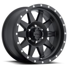 The Method MR301 Matte Black Standard is a timeless looking 10-spoke wheel with a matte clear coat for protection. Subtle features such as push-through hub covers, interchangeable stainless steel bolts around the outer lip and 'Method' machined into a spoke allow this wheel to look right at home on everything from stock trucks, Jeeps and SUV's to the best off road vehicles.
