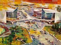 More cool Disneyland concept art! Tomorrowland '67!