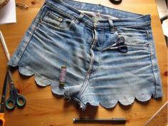 diy scalloped shorts.