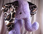 Lavender GIRAFFE ELEPHANT - home decor - soft stuffed plush toy wild Animal - designed and made in Berlin-Germany
