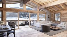 Scandinavian Country Interior Design is set in three. Chalet Interior, Country Interior Design, Apartment Interior Design, Chalet Design, House Design, Design Design, Chalet Style, Country Style Living Room, Home Decor Near Me
