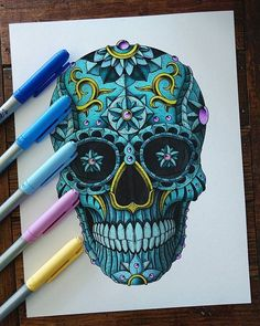 Image result for instagram sugar skull art