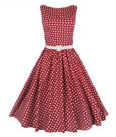 Audrey swingjurkje rood en witte polkadot