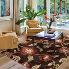 Costco: Luxe Living Modern Shag Rug, Pendelton Jet Black / Brown