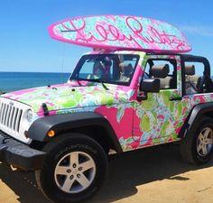Lily Pulitzer Jeep