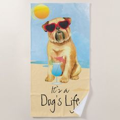 Summer Brussels Griffon Beach Towel   baby pugs cute, ladies gifts, christmas gifts sets #pugsocks #instapug #puglover French Bulldog Full Grown, French Bulldog Names, French Bulldog For Sale, French Bulldog Clothes, French Bulldog Blue, Pug Pillow, Pugs And Kisses, Baby Pugs, Custom Beach Towels